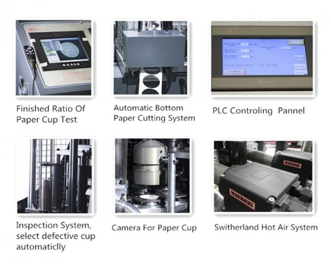 Economical Double Wall Paper Cup Machine with ultrasonic / inspect / pack system