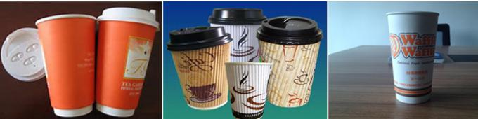 Horizontal 16oz Double Wall Paper Cup Machine , Ultrasonic Paper Cup Making Plant Paper Cup Sleeve Machine