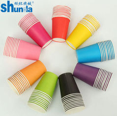 China PE Coated Juice / Coffee Paper Cup Fan Sheet Single / Double supplier