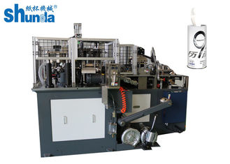 China Full Automatic Straight Cup / Paper Tube Forming Machine Air compressor 0.5 M³ / Min supplier