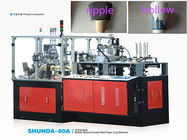 China Double Sides PE Paper Cup Sleeve Machine For Cold and hot Drink factory