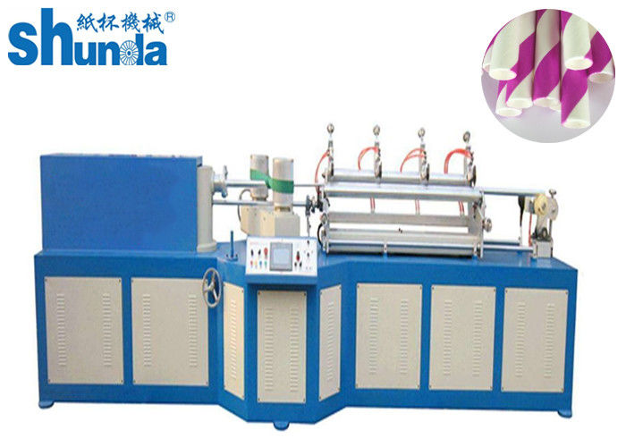 PLC Control Automatic Paper Tube Making Machine For 3 Layers