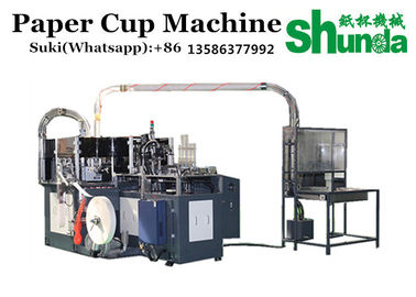 China High Performance Paper Cup Making Machine 3 Phase Full Automatic Gear working factory
