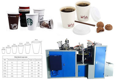 China Self Action Beverage Paper Coffee Cup Making Machine Ultrasonic And Hot Air factory