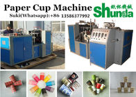 Blue 45 - 50 Pcs / Min Automatic Paper Cup Machine Hot Drink Cup Paper Cup Making Machine For Tea And Coffee Cup