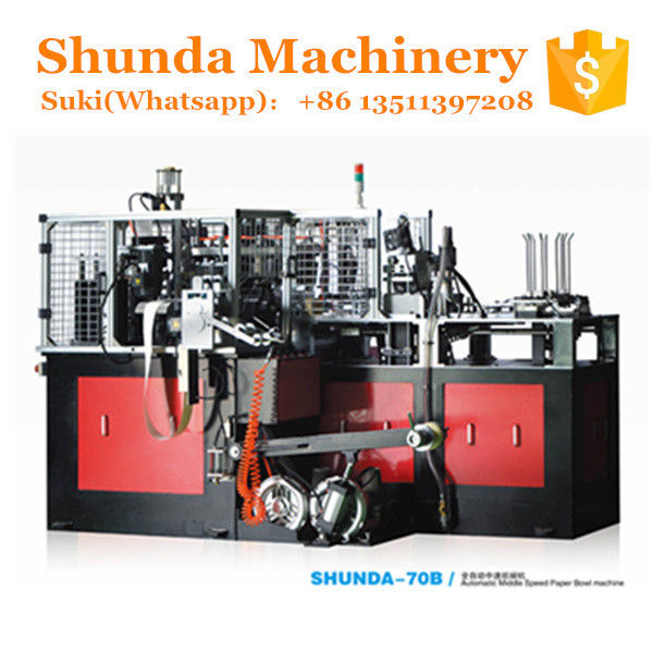 High Speed Paper Bowl Making Machine 60HZ 12KW With Hot Air Sealing